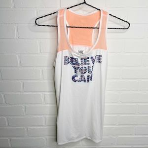 Athleta Girl Tank Top believe you can kids size XL